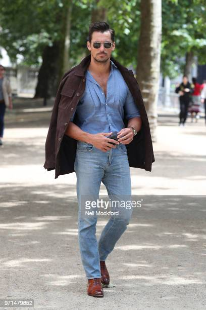 David Gandy attends the Barbour International Runway Show LFWM June 2018 at The ICA Theatre on June 11, 2018 in London, England.