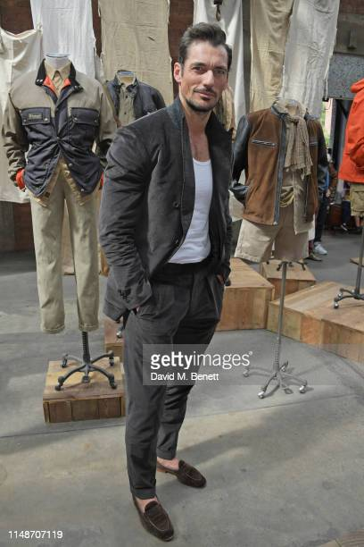 David Gandy attends the Belstaff presentation during London Fashion Week Men's June 2019 at the Hoxton Docks on June 9, 2019 in London, England.