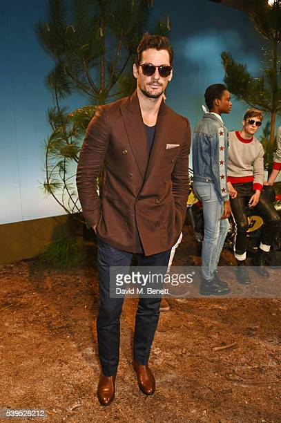 David Gandy attends the Belstaff presentation during The London Collections Men SS17 at QEII Centre on June 12 2016 in London England