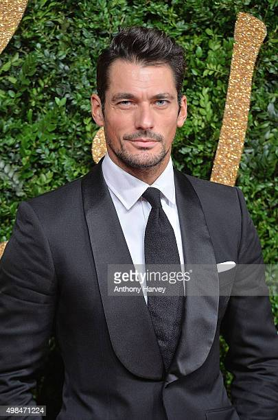David Gandy attends the British Fashion Awards 2015 at London Coliseum on November 23 2015 in London England