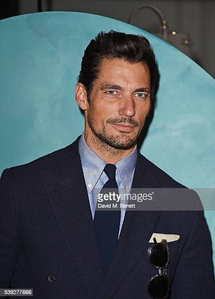 David Gandy attends the Burberry LCM event at 121 Regent Street hosted by Christopher Bailey Burberry Chief Creative and Chief Executive Officer on...