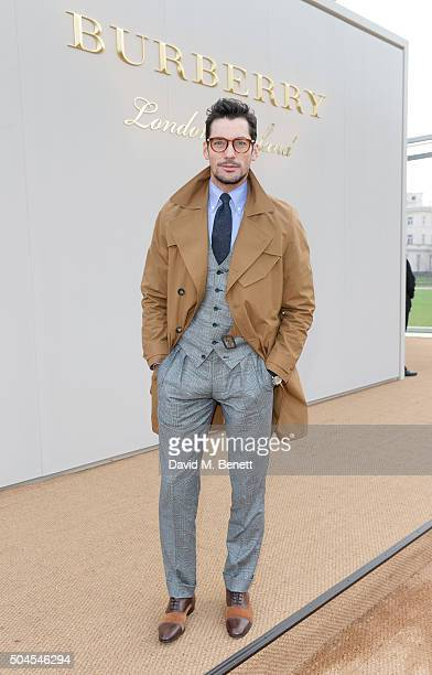 David Gandy attends the Burberry Menswear January 2016 Show on January 11 2016 in London United Kingdom