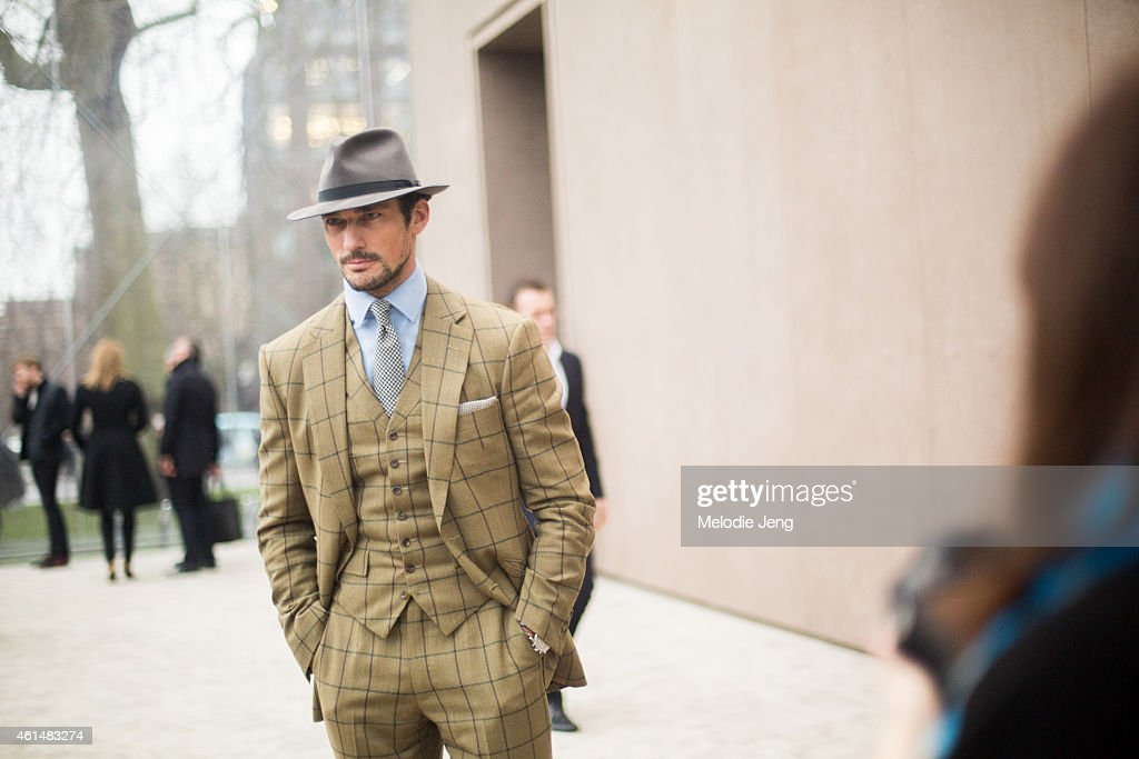 Street Style: Day 4 - London Collections: Men AW15 : News Photo