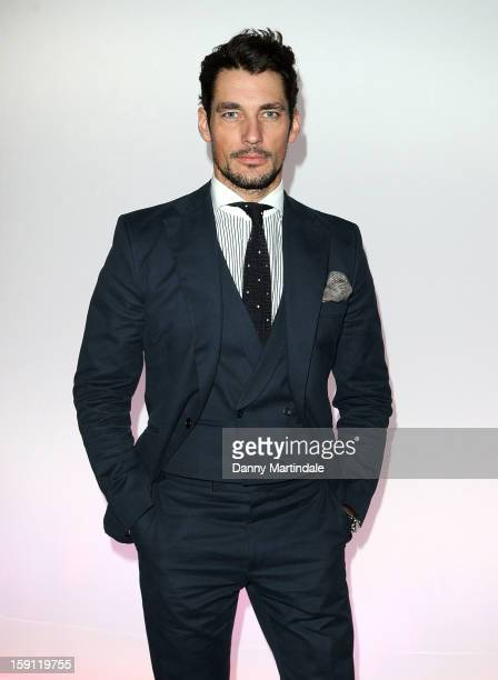 David Gandy attends the Christopher Shannon show at the London Collections MEN AW13 at The Old Sorting Office on January 8 2013 in London England