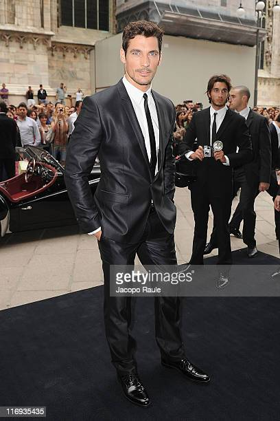 David Gandy attends the David Gandy A Day in Milan With Dolce Gabbana as part of Milan Fashion Week Menswear Spring/Summer 2012 on June 18 2011 in...