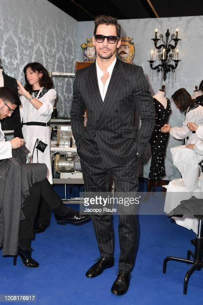 David Gandy attends the Dolce e Gabbana fashion show on February 23 2020 in Milan Italy