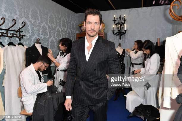 David Gandy attends the Dolce e Gabbana fashion show on February 23, 2020 in Milan, Italy.