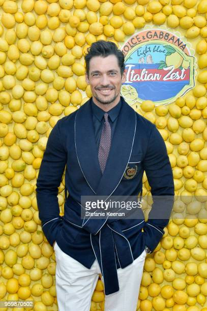 David Gandy attends the Dolce Gabbana Light Blue Italian Zest Launch Event at the Nomad Hotel Los Angeles on May 17 2018 in Los Angeles California