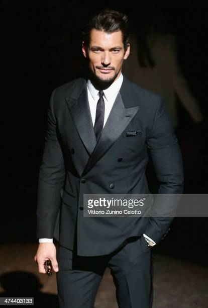David Gandy attends the Dolce & Gabbana show as part of Milan Fashion Week Womenswear Autumn/Winter 2014 on February 23, 2014 in Milan, Italy.