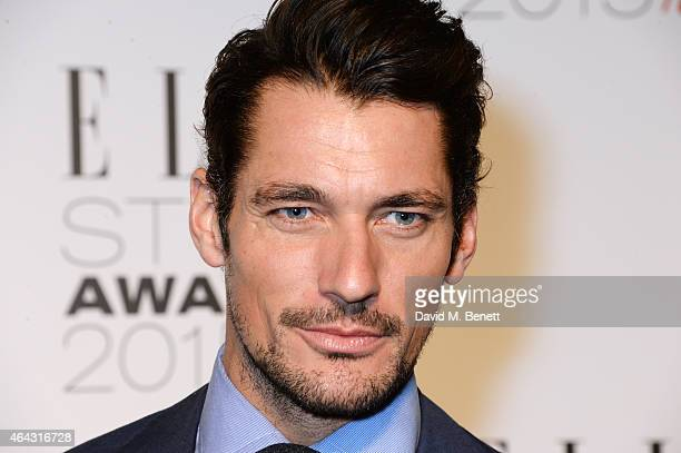 David Gandy attends the Elle Style Awards 2015 at Sky Garden @ The Walkie Talkie Tower on February 24, 2015 in London, England.