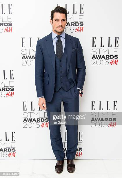 David Gandy attends the Elle Style Awards 2015 at Sky Garden @ The Walkie Talkie Tower on February 24 2015 in London England