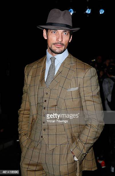 David Gandy attends the ETautz show at the London Collections Men AW15 at on January 12 2015 in London England