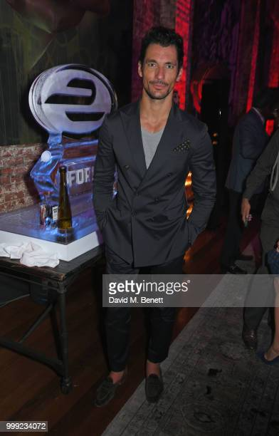 David Gandy attends the Formula E 1920's cocktail party hosted by Liv Tyler on the eve of the final race of the 2017/18 ABB FIA Formula E...