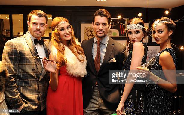 David Gandy attends the Global Flagship tore launch party at Hackett London on November 28 2013 in London England