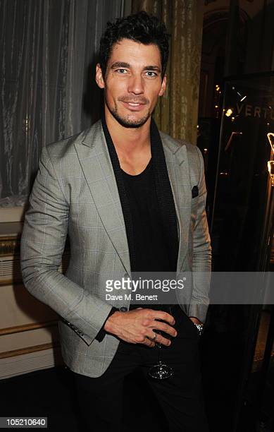 David Gandy attends the global launch of Vertu Constellation Quest at Lancaster House on October 12, 2010 in London, England.