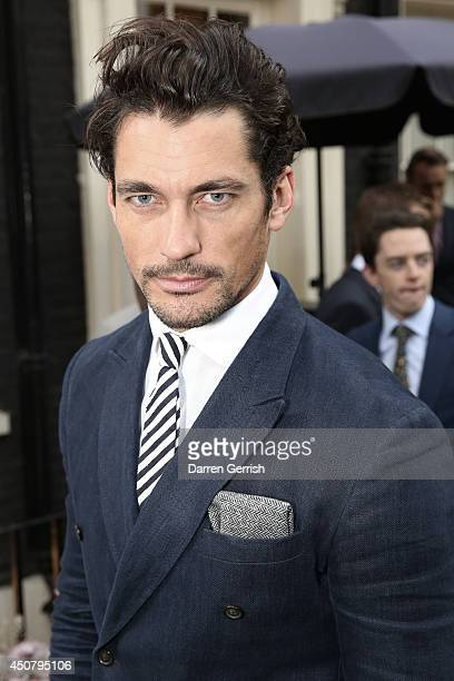 David Gandy attends the GQ and Dunhill party during the London Collections Men SS15 on June 17 2014 in London England