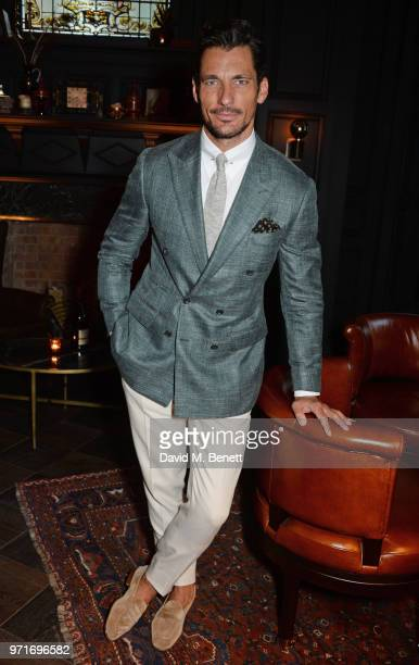 David Gandy attends the GQ Dinner co-hosted by Dylan Jones and Loyle Carner to celebrate London Fashion Week Men's June 2018 at Neptune At The...