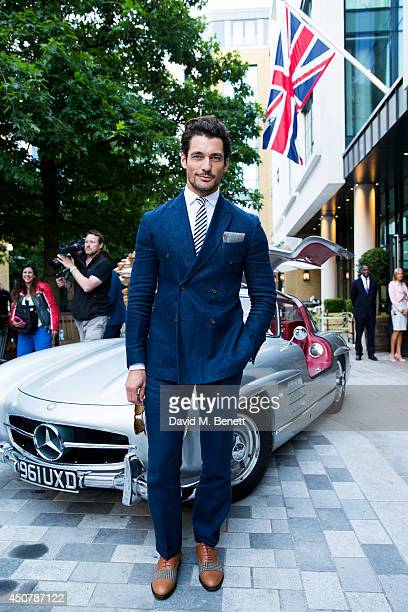 David Gandy attends the GQ dinner to celebrate London Collections Men SS15 at Ham Yard Hotel on June 17 2014 in London England