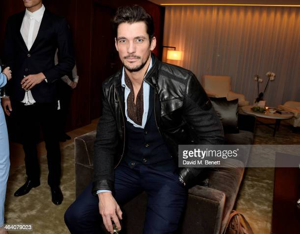 David Gandy attends the 'GUESS Loves Priyanka' VIP Dinner at the London Edition Hotel on January 20, 2014 in London, England.