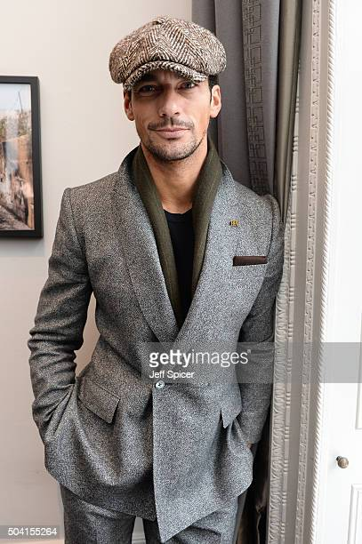 David Gandy attends the Hardy Amies presentation during The London Collections Men AW16 at The Arts Club on January 9, 2016 in London, England.