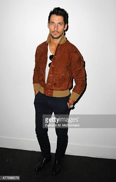 David Gandy attends the James Long show during The London Collections Men SS16 at on June 14 2015 in London England