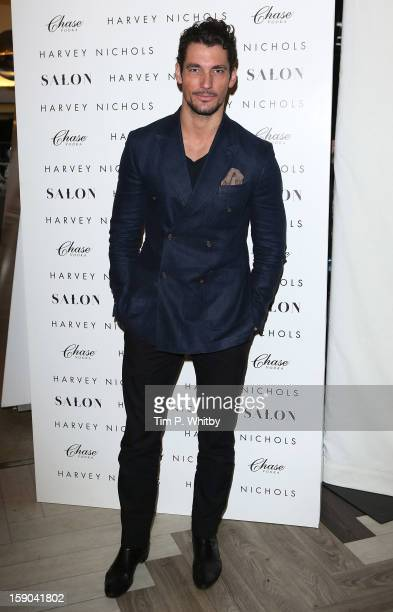David Gandy attends the launch of 1205 Paula Gerbase Hosted By Harvey Nichols ahead of the London Collections MEN AW13 at Harvey Nichols on January 6...