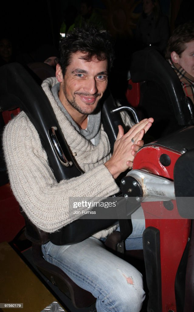 ACCESS** David Gandy attends the launch of SAW Alive - the world's most extreme live horror maze at Thorpe Park on March 9, 2010 in Chertsey, England.