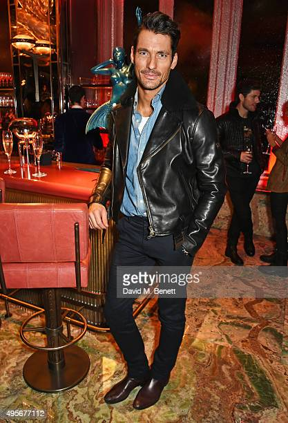 David Gandy attends the launch of the new Matchless Star Wars collection at Sexy Fish on November 4, 2015 in London, England.