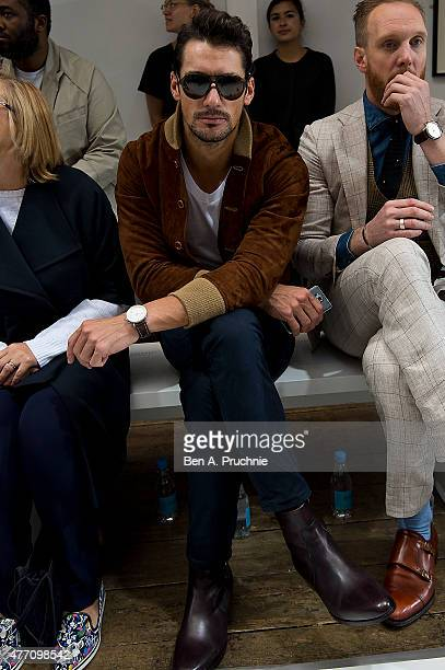David Gandy attends the Margaret Howell show during The London Collections Men SS16 at on June 14 2015 in London England