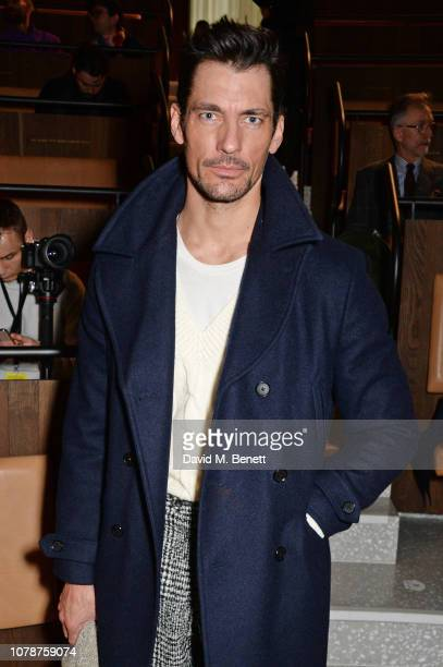 David Gandy attends the Oliver Spencer Autumn/Winter 2019 Catwalk Show during London Fashion Week Men's January 2019 at The Royal Academy on January...