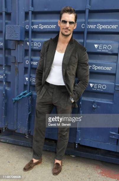 David Gandy attends the Oliver Spencer Menswear SS20 show during London Fashion Week Men's June 2019 on June 9, 2019 in London, England.