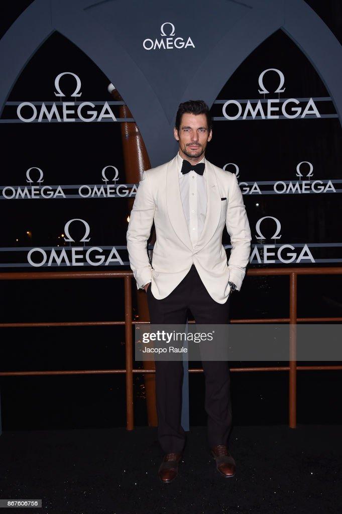 David Gandy attends the OMEGA Aqua Terra at Palazzo Pisani Moretta on October 28, 2017 in Venice, Italy.