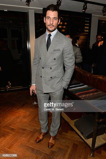 David Gandy attends the opening of the new Thom Sweeney RTW & MTM Store on November 13, 2014 in London, England.