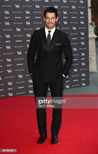 David Gandy attends the preview of The Glamour of Italian Fashion exhibition at Victoria Albert Museum on April 1 2014 in London England