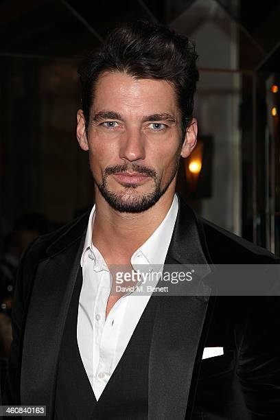David Gandy attends the Rake Magazine and Claridges party for the London Collections Men at Claridges Hotel on January 5 2014 in London England