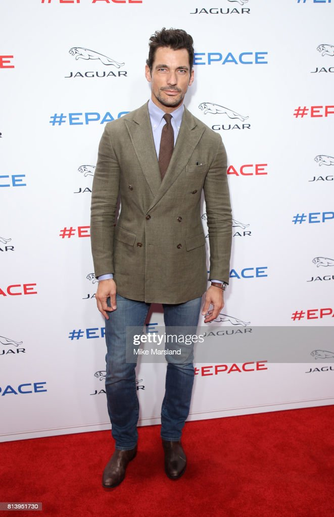David Gandy attends the reveal of Jaguar's brand new E-PACE at ExCel on July 13, 2017 in London, England.