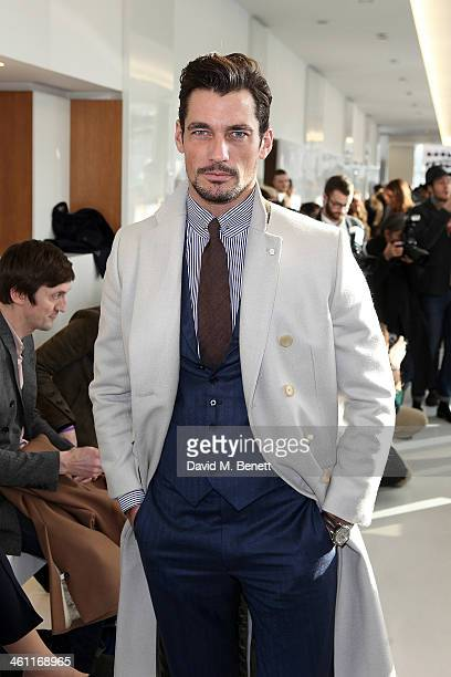 David Gandy attends the Richard James show during The London Collections Men Autumn/Winter 2014 on January 7 2014 in London England