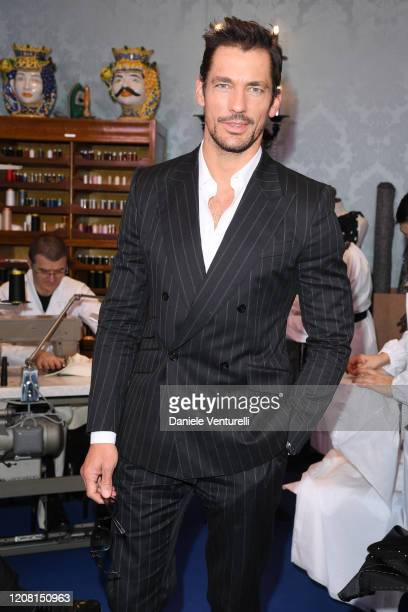David Gandy attends the runway at the Dolce Gabbana fashion show on February 23 2020 in Milan Italy