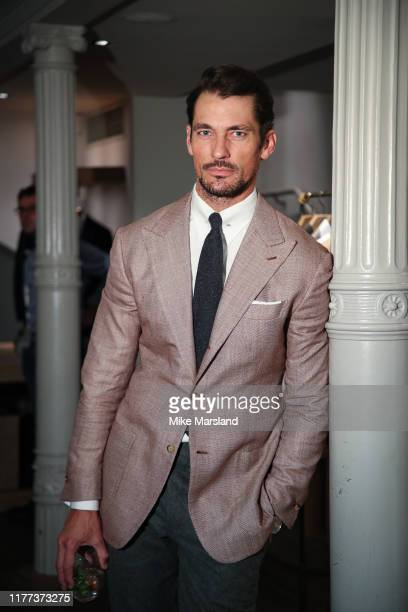 David Gandy attends the Savile Row Gin Launch Event at Gieves & Hawkes on September 26, 2019 in London, England.