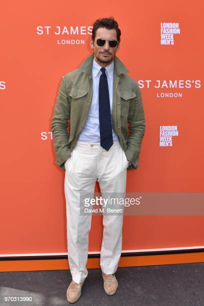 David Gandy attends the St James's show during London Fashion Week Men's June 2018 at the Jermyn Street Catwalk Space on June 9 2018 in London England