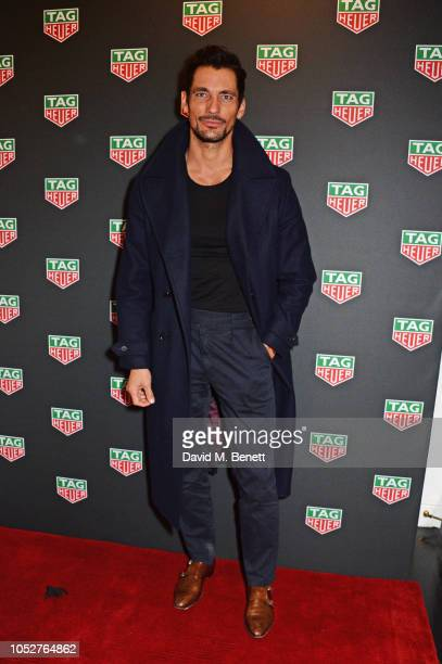 David Gandy attends the TAG Heuer auction featuring unseen art work from the 'Don't Crack Under Pressure' Campaign in association with Cara...