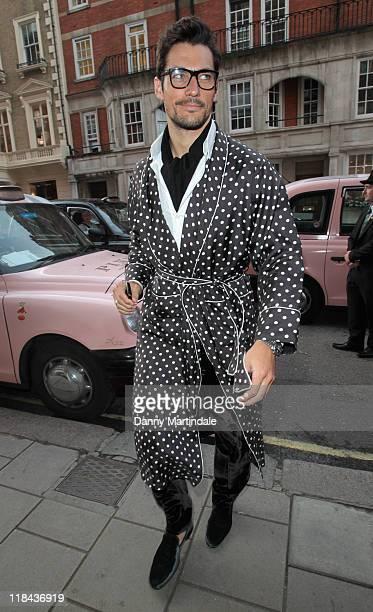 David Gandy attends the Tatler's pyjama party at Claridge's Hotel on July 7 2011 in London England