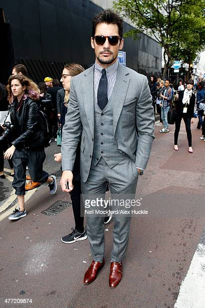 David Gandy attends the Tautz SS16 catwalk show at The Old Sorting Office during London Collections Men on June 15 2015 in London England Photo by...