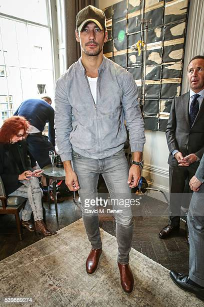 David Gandy attends the Thom Sweeney presentation during The London Collections Men SS17 at The Arts Club on June 13 2016 in London England