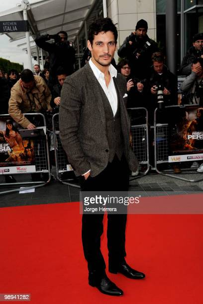 David Gandy attends the World Premiere of 'Prince of Persia: The Sands of Time' at the Vue Westfield on May 9, 2010 in London, England.