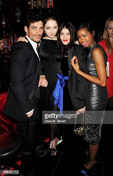 David Gandy Lily Cole Gemma Arterton and Tallulah Adeyemi celebrate at The Weinstein Company and Momentum Pictures' postBAFTA party held at W...