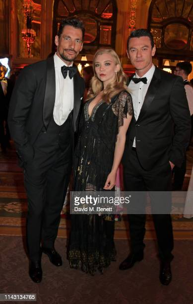 David Gandy, Natalie Dormer and Luke Evans attend The ABB FIA Formula E 2019 Monaco E-Prix 'Casino Royale' Black Tie Event at Casino de Monte-Carlo...