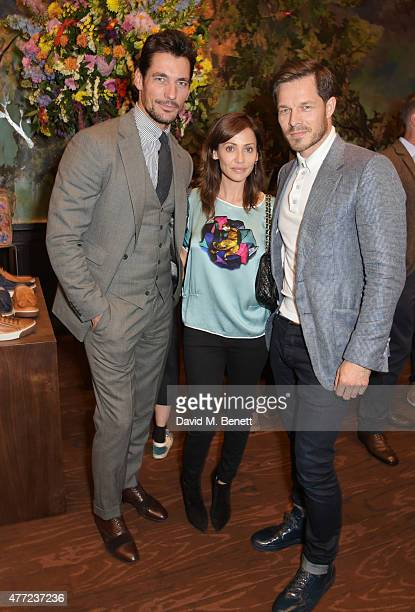 David Gandy Natalie Imbruglia and Paul Sculfor attend the LATHBRIDGE by Patrick Cox presentation and official launch during London Collections Men...