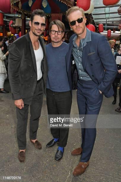 David Gandy, Oliver Spencer and Joe Ottaway attend the Oliver Spencer Menswear SS20 show during London Fashion Week Men's June 2019 on June 9, 2019...