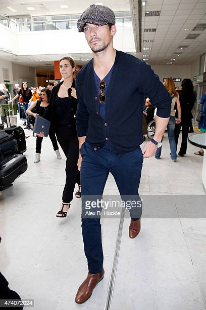 David Gandy seen arriving at Nice Airport for the 68th Annual Cannes Film Festival on May 19 2015 in Nice France